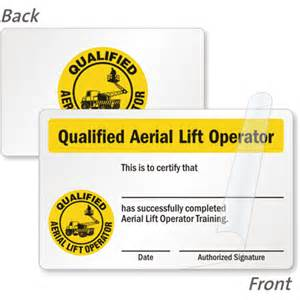 forklift operator certification card template forklift certification cards forklift driver wallet cards