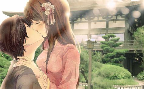 wallpaper cute kiss anime couple kissing anime manga wallpaper