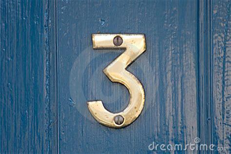 Door Number 3 by Blue Door Number 3 Stock Photo Image 4281780