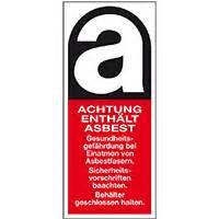 Baustellenschild Mit 100 M by Gefahrenkennzeichen Achtung Enth 228 Lt Asbest Typ A Folie