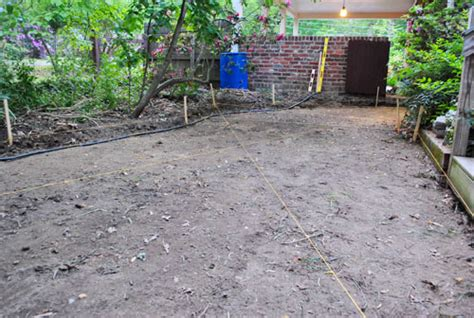 laying gravel in backyard how to lay a paver patio gravel sand and stones young