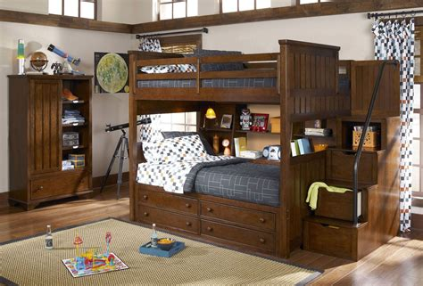 youth bedroom set dawsons ridge youth storage steps bunk bedroom set from