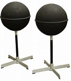 Image result for JVC Nivico Globe Speakers. Size: 140 x 160. Source: www.liveauctioneers.com