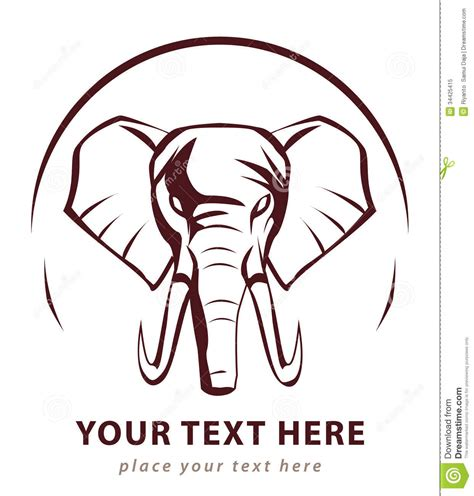 elephant symbol royalty free stock photo image 34425415