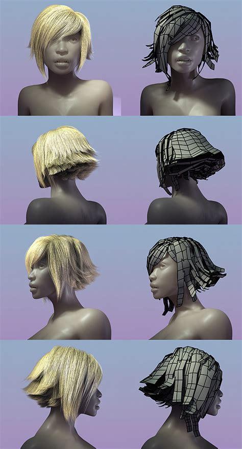 model rambut 3d hair style 002 by bitgem 3docean