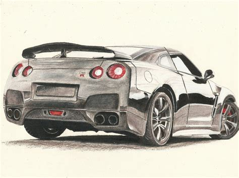 nissan skyline drawing draw nissan gtr how to draw nissan skyline by