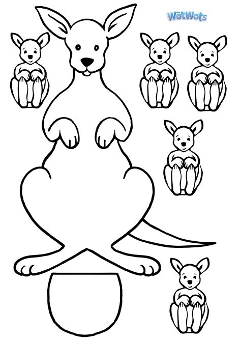 kangaroo puppet template kangaroo template logo jpg 2480 215 3508 arts and crafts