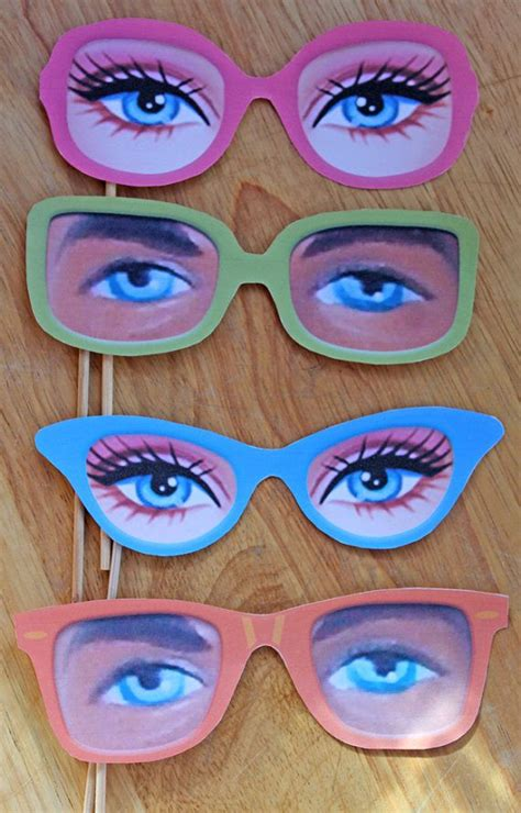 printable paper glasses 1000 images about barbie spy squad party on pinterest