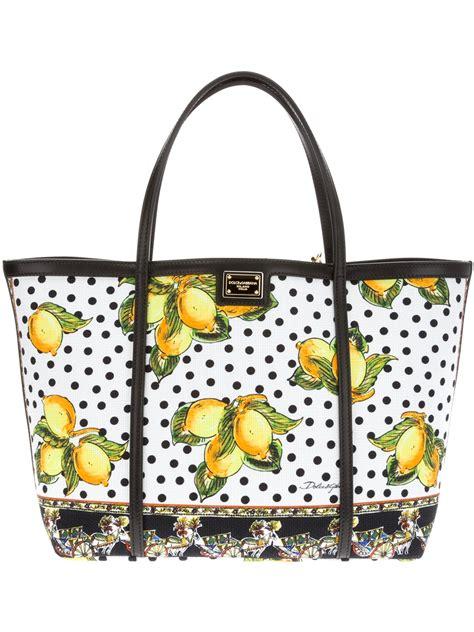 Dg Dolce Gabbana Metallic Shopper by Dolce Gabbana Lemon Print Shopper In Yellow Lemon Lyst