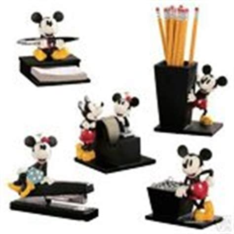 Mickey Mouse Desk Accessories Disney Vintage Mickey And Minnie Mouse 5 Desk Set 01 02 2007