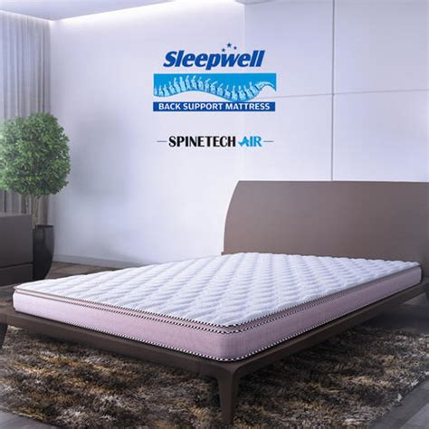 sleepwell spinetech air back support mattress sleepwell foam sheet स ल पव ल क गद द