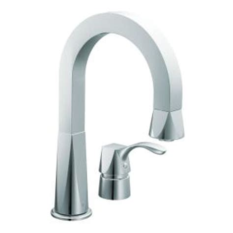 home depot moen kitchen faucets moen single handle kitchen faucet in chrome cas658 the home depot