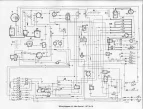 wiring diagram of 1977 1978 mini special circuit wiring diagrams