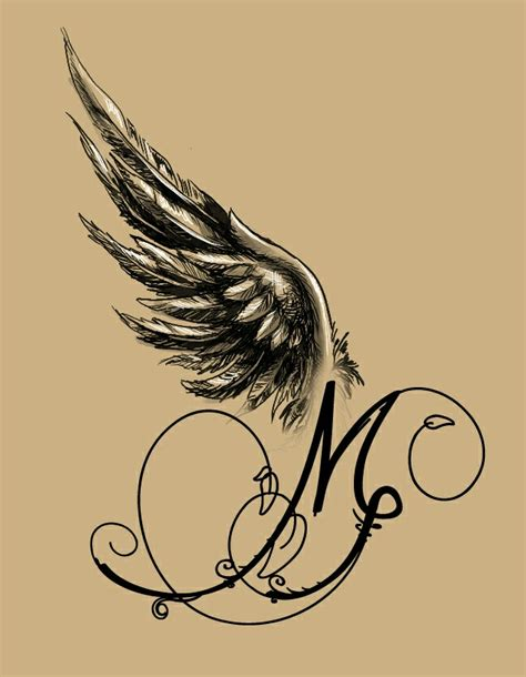 m m tattoo winged m design my designs