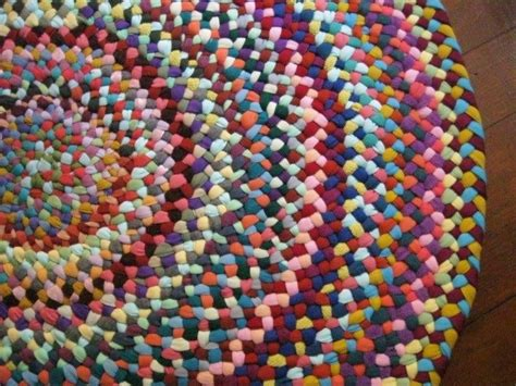 colorful braided rugs ooak colorful braided rug in upcycled cotton