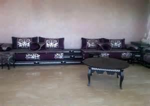 salon marocain mauve noir de luxe boutique artisanat