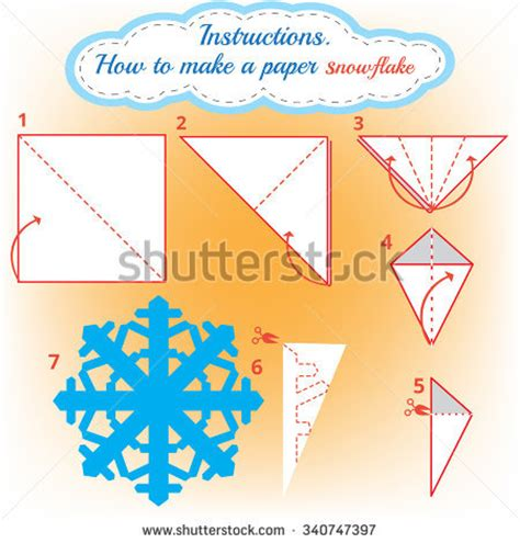 Steps To Make A Paper Snowflake - how to make paper snowflake tutorial