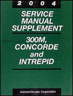 motor repair manual 2000 chrysler concorde auto manual 2004 300m concorde intrepid 2 7l engine repair shop manual orig supplement