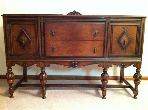 buffet sideboard server cupboard cabinet carved