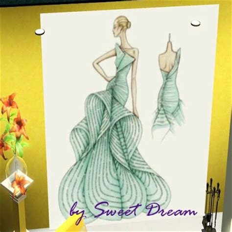 Sims 3 Sketches by My Sims 3 Fashion Sketches Paintings By Sweet