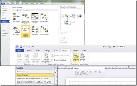 what is microsoft workflow sharepoint workflow authoring in visio premium 2010 part