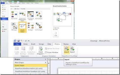 microsoft sharepoint workflow sharepoint workflow authoring in visio premium 2010 part