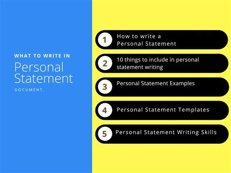 Personal Statement Exles And Templates Of Personal Statement What To Include In Personal Personal Templates