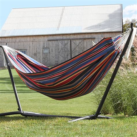 Vivere Hammock With Space Saving Steel Stand view larger