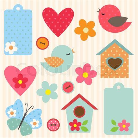 Blumen Sticker Zum Aufnähen by Kunst Sticker Template Vektorgrafik Colourbox