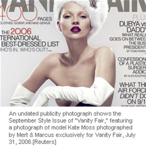 Vanity Fair Style 75031 by Kate Moss On Cover Of September Issue Of Vanity Fair Magazine
