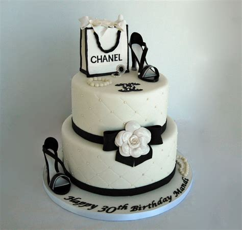 Happy 50th Birthday Chanel Shoes by Chanel Theme Fondant Birthday Cake With Gumpaste Shoes