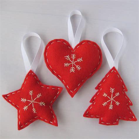 Felt scandinavian christmas hanging decorations handmade flickr