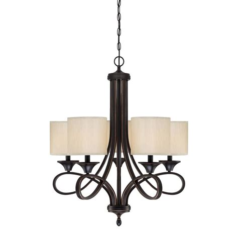Bronze L Shades by Westinghouse Lenola 5 Light Bronze Chandelier With