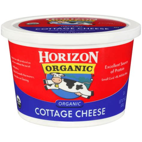 cottage cheese organic horizon organic small curd cottage cheese 16 oz dairy