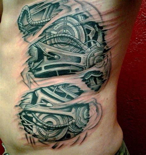 rib cage tattoo designs 30 rib ideas for boys and