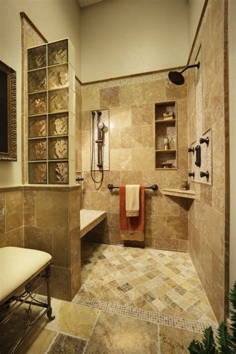 Shower Without Door Or Curtain by 23 Bathroom Designs With Handicap Showers Messagenote