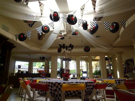 Car Themed Decor by Ceiling Decoration With Sport Theme