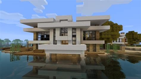 minecraft modern house tutorial minecraft on pinterest