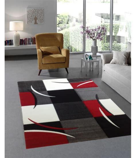 teppich rot schwarz teppich mit konturenschnitt karo muster rot schwarz