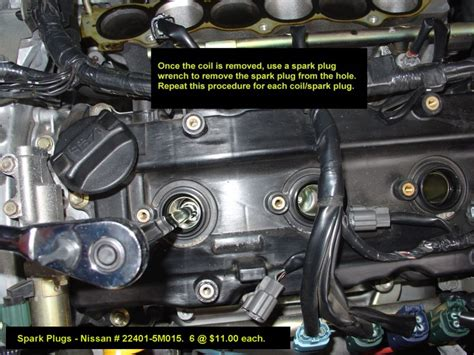 2002 2003 nissan maxima spark plugs coils replacement