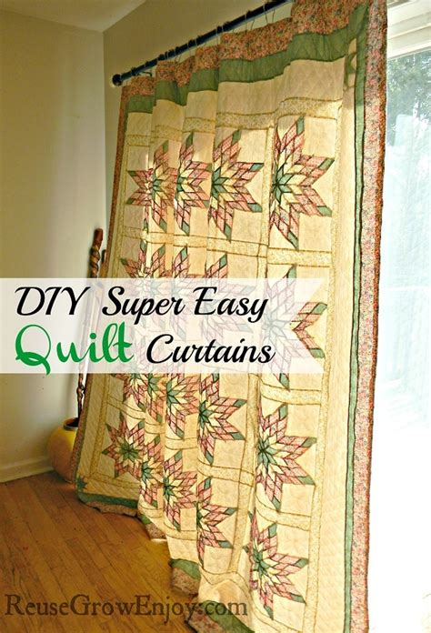 easy way to make curtains super easy way to make quilt curtains