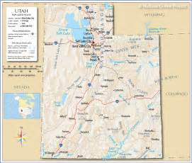 A Map Of Utah by Reference Map Of Utah Usa Nations Online Project