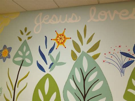 christian wall murals detail from a church nursery mural by liz richter church nursery jesuslovesme midcentury