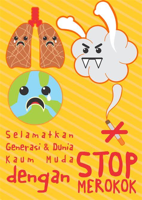 cara membuat poster bahaya narkoba inspirasi poster anti rokok panda design