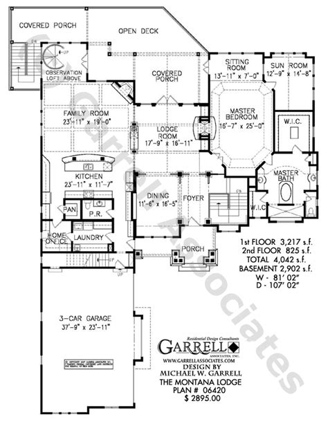 rustic mountain home floor plans montana lodge rustic mountain house plan