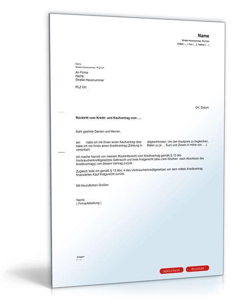 Auto Kaufvertrag Zur Cktreten by R 252 Cktritt Vom Kaufvertrag Muster Vorlage Zum Download