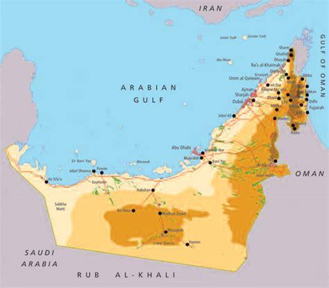 map uae united arab emirates