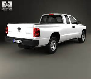 dodge dakota extended cab 2007 3d model humster3d