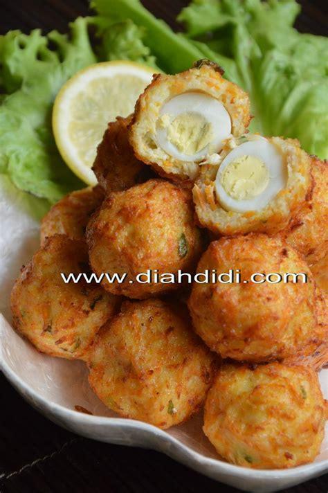 Snack Bihun Kentang diah didi s kitchen bakso goreng ayam dan bihun isi telur
