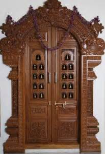 Door Design In Wood by Latest Pooja Room Door Frame And Door Design Gallery